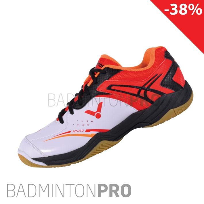 Victor A501 wit rood kinder badminton schoen