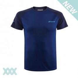 Babolat Junior Play Crew Neck T-Shirt Donkerblauw