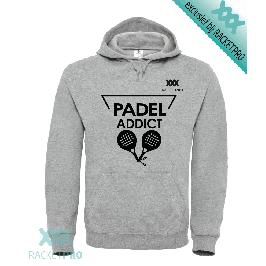 Padel Hoodie Racketpro Grijs 'Padel Addict'
