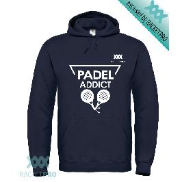Padel Hoodie Racketpro Navy 'Padel Addict'