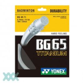 Yonex BG65 Titanium BG65TI badmintonsnaar - coil 200 meter