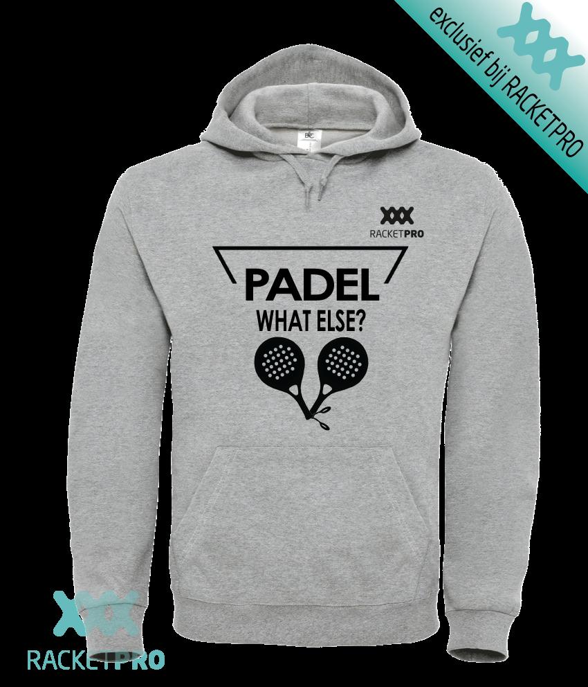 Padel Hoodie Racketpro 'What Else?' Grijs