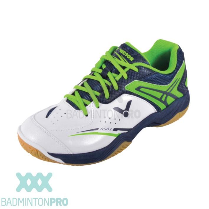 Victor A501 Wit Groen Kinder badminton schoen