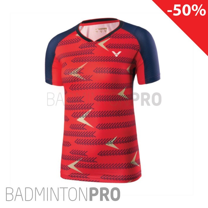 Victor Dames shirt 6649 rood