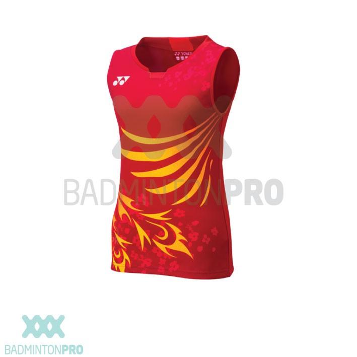 Yonex Dames Shirt Japan 20571EX Kurenai Rood