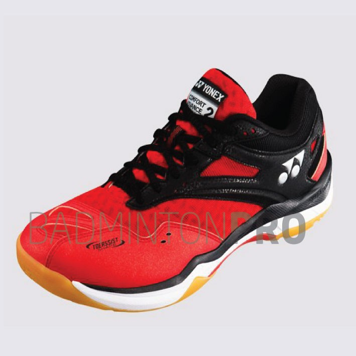 Yonex SHB Power Cushion Advance 2 - Rood-Zwart (40)